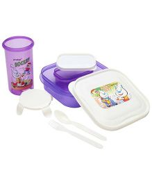 Pratap Hungry Time Lunch Box Kit Hockey Print - Purple