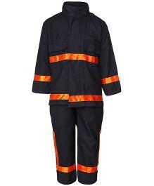 Gvavas Firefighter Fancy Dress Costume - Black