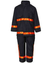 Gvavas Firefighter Fancy Dress Costume - Black