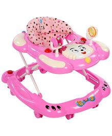 Musical Baby Walker Sheep Face Design - Pink