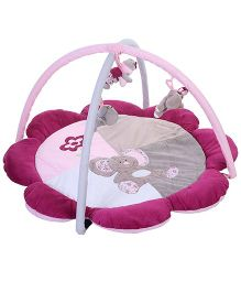 1st Step Flower Shaped Play Mat - Pink