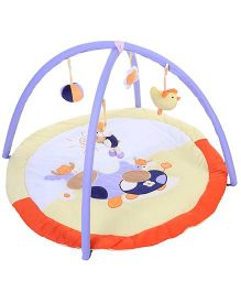1st Step Round Shaped Play Mat Cow Patch - Yellow