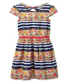 Beebay Striped Floral Print Dress - Multicolour
