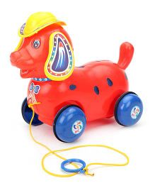 Luvely Pull Along Fantastic Puppy Toy - Red And Blue