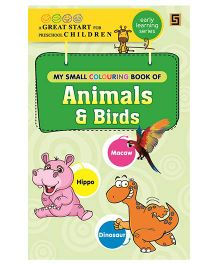 My First Small Coloring Book of Animals And Birds - English