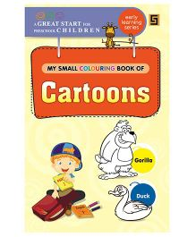 My First Small Coloring Book of Cartoons - English