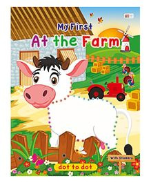 Art Factory At The Farm Dot To Dot- Book With Sticker