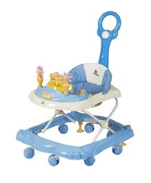 Sunbaby Adore You Walker With Push Handle And Play Tray - Blue