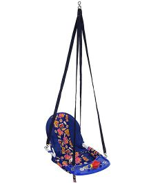 New Natraj Cozy Deluxe Swing Bear Elephant And Train Print - Navy Blue