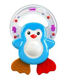 Giggles Penguin Pal Teether Rattle - Blue