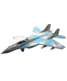 Baby Steps Mission Fighter Mig 29 Plane Die Cast Metal - Blue