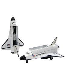 Baby Steps Space Shuttle Die Cast Metal - White