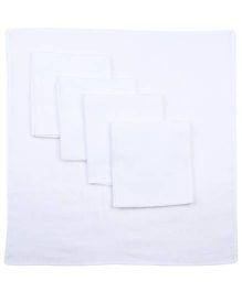 Babyhug Cotton Square Nappy Set Of 5 - White