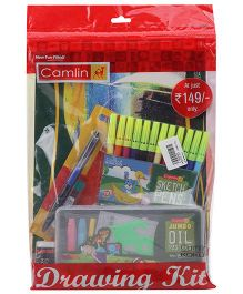Camlin Drawing Kit Combo Set Of 5- Multicolour