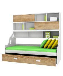 Alex Daisy Wooden Bunk Bed Hybrid - Oak