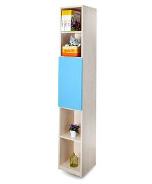 Alex Daisy Wooden Vertical Bookcase - Blue And Maple