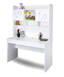 Alex Daisy Wooden Study Table Prism - White