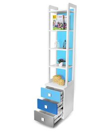 Alex Daisy Wooden Bookcase Young America - Blue
