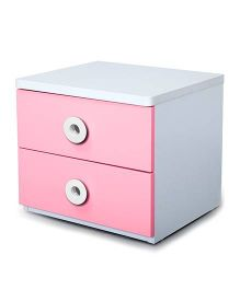 Alex Daisy Wooden Bedside Table - Prism - Pink