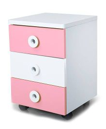 Alex Daisy Wooden Movable Drawer Set Prism - Pink