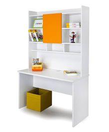 Alex Daisy Wooden Study Table - Solo - Orange