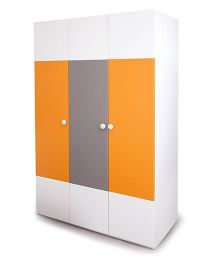 Alex Daisy Wooden 3 Door Wardrobe  - Solo - Orange