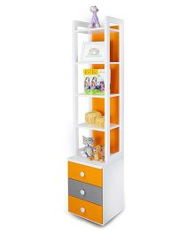 Alex Daisy Wooden Bookcase  - Solo - Orange