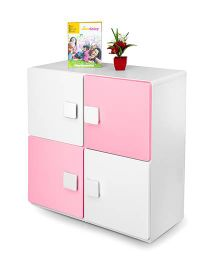 Alex Daisy Wooden Two Layer Bookcase - Pink