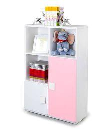 Alex Daisy Wooden Three Layer Bookcase - Pink
