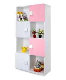 Alex Daisy Four Layer Wooden Bookcase - Pink