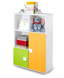 Alex Daisy Three Layer Wooden Bookcase - Yellow And Green