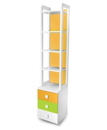 Alex Daisy Wooden Bookcase Young America - Yellow And Green