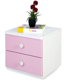 Alex Daisy Wooden Bedside Table - Zest - Pink