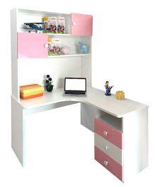 Alex Daisy Wooden Study Table Zest - Pink