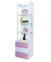 Alex Daisy Wooden Bookcase Zest - Pink