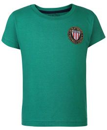 Palm Tree Half Sleeves T-Shirt Logo Patch - Green