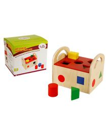 Eduedge Lets Solve Shape N Slot House - 10 Wooden Shapes