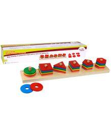 Eduedge Lets Solve Advance Shape Stackers - Multicolour