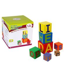 Eduedge Let's Build Alphabet Tower Small Size - 7 Hollow Blocks