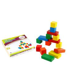 Eduedge Let's Build Cubes And Bricks - 15 Pieces Each Blocks And Tiles
