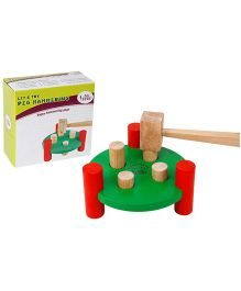 Eduedge Let's Try Peg Hammering - Green Red And Brown