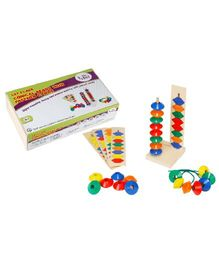 Eduedge Let's Lace Conical Beads With Pattern Cards - 25 Beads