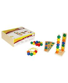 Eduedge Let's Lace Big Round Beads With Pattern Cards - 50 Beads