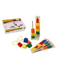 Eduedge Let's Lace Shapes Beads With Pattern Cards