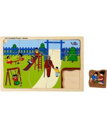 Eduedge Let's Complete Picture Garden - 15 Wooden Pieces