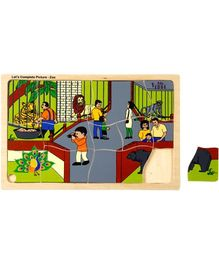 Eduedge Let's Complete Picture Zoo - 13 Wooden Pieces