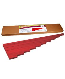Eduedge Montessori Sensorial Long Rods - 10 Wooden Rods