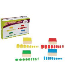 Eduedge Montessori Sensorial Set Of Knobs Less Cylinder