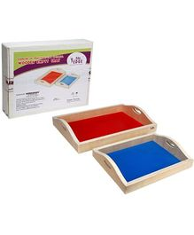 Eduedge Exercises Of Practical Life Wooden Empty Tray - Set Of 2
