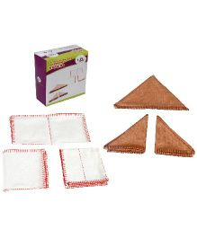 Eduedge Exercises Of Practical Life Napkins - 8 Napkins in 2 Boxes